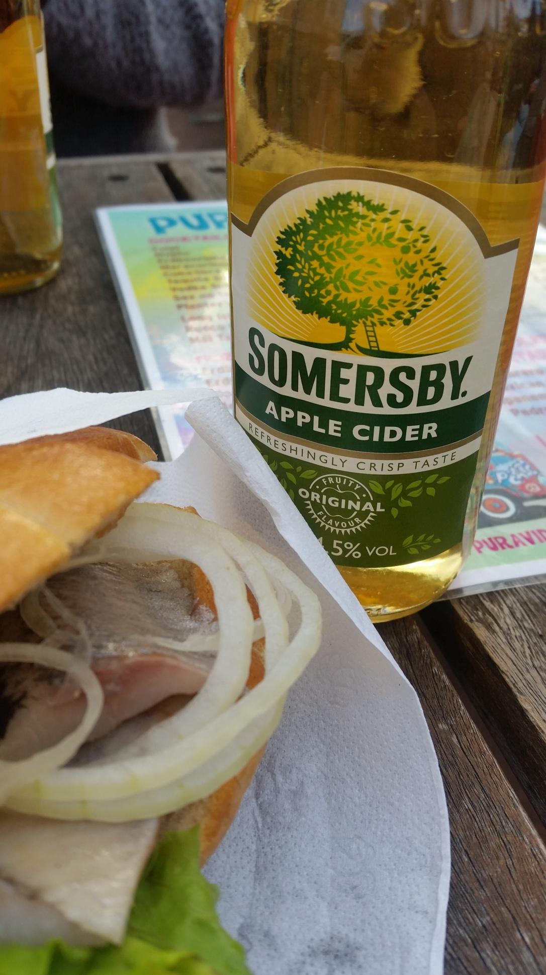 Matjesbrötchen und Cider