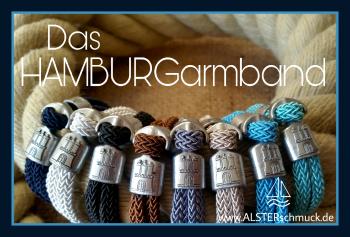das HAMBURGarmband aus Stoff in 8 Farben